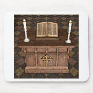 Medieval Alter and Bible Mouse Pads