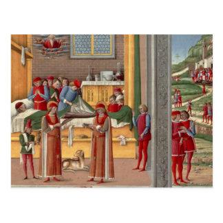 Medieval amputation scene postcard