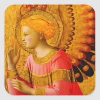 Medieval Angel Stickers for Sealing Envelopes