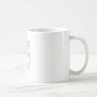 Medieval Archer Aiming Bow and Arrow Letter Z Draw Coffee Mug
