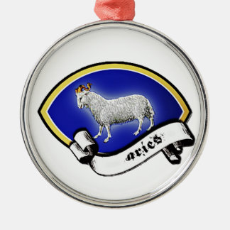 Medieval Astrological Zodiac Sign Ram (Aries) Christmas Tree Ornament