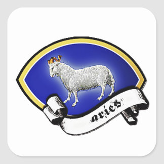 Medieval Astrological Zodiac Sign Ram (Aries) Square Sticker