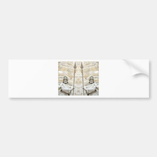 Medieval background with knight in armour bumper sticker