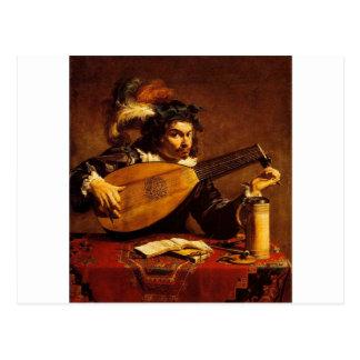 medieval-bard-4 postcard