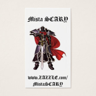 Medieval Black Knight Sword Profile Business Card