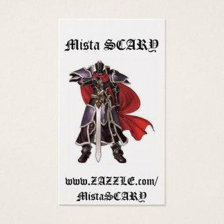 Medieval Black Knight Sword Profile Card Custom