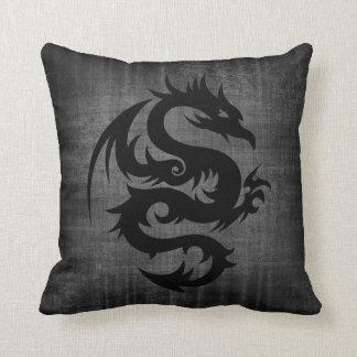 Medieval Black Velvet Cushion Throw Pillows