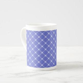 Medieval Blue Diagonal Pattern Bone China Mug