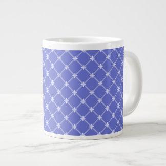 Medieval Blue Diagonal Pattern Jumbo Mug