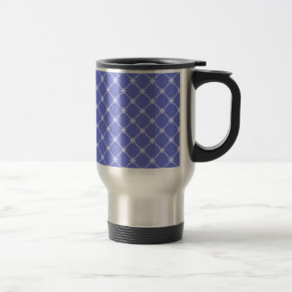 Medieval Blue Diagonal Pattern 15 Oz Stainless Steel Travel Mug