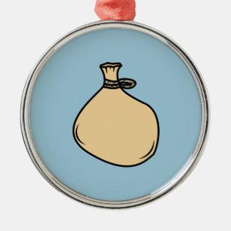 Medieval Brown Sack Bag Metal Ornament