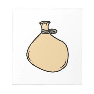 Medieval Brown Sack Bag Notepad