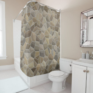 Medieval Brown Stone Shower Curtain