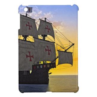 medieval carrack at sunset iPad mini cases