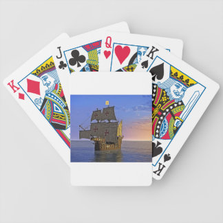 Medieval Carrack at Twilight Bicycle Playing Cards