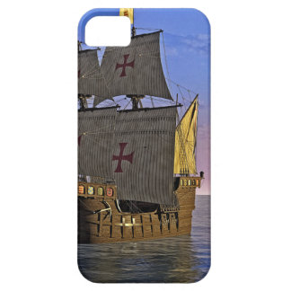 Medieval Carrack at Twilight Case For The iPhone 5