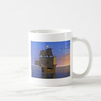 Medieval Carrack at Twilight Coffee Mug