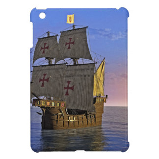 Medieval Carrack at Twilight iPad Mini Cover
