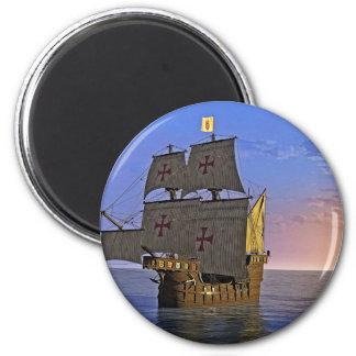 Medieval Carrack at Twilight Magnet