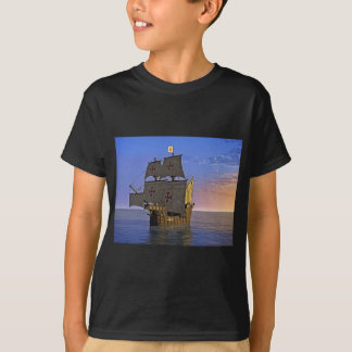 Medieval Carrack at Twilight T-Shirt