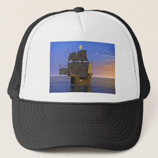 Medieval Carrack at Twilight Trucker Hat