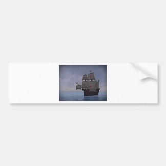 Medieval Carrack Becalmed Bumper Sticker