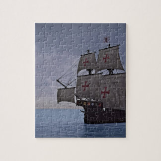 Medieval Carrack Becalmed Jigsaw Puzzle