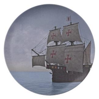 Medieval Carrack Becalmed Plate