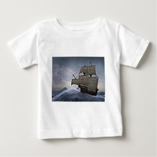 Medieval Carrack in the Storm Baby T-Shirt