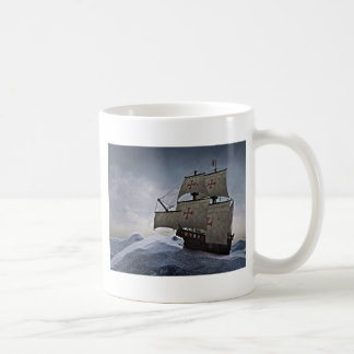 Medieval Carrack in the Storm Coffee Mug