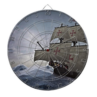 Medieval Carrack in the Storm Dartboard