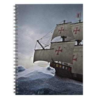 Medieval Carrack in the Storm Notebook