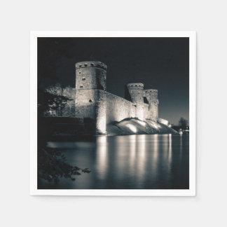 Medieval castle disposable serviette
