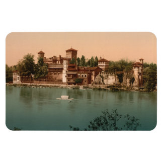 Medieval Castle  Market Town, Turin, Italy Rectangular Photo Magnet
