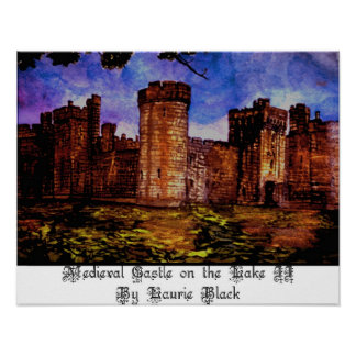 Medieval Castle on the Lake II Poster