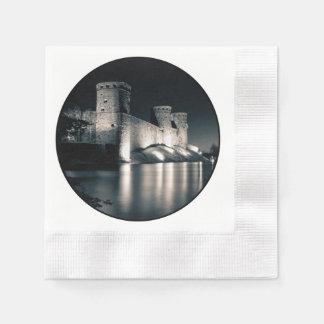 Medieval castle paper serviettes