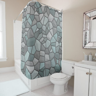 Medieval Castle Stone Shower Curtain