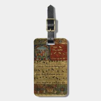 Medieval Chant Manuscript Luggage Tag