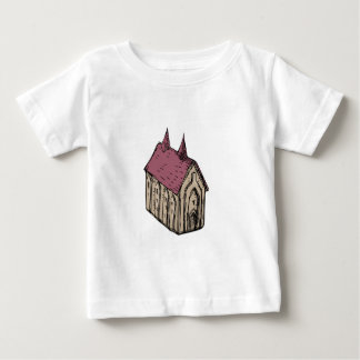Medieval Church Drawing Baby T-Shirt