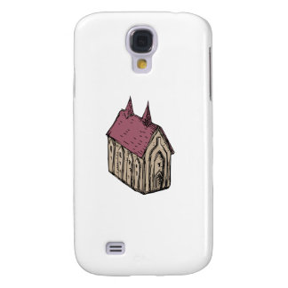 Medieval Church Drawing Galaxy S4 Cover