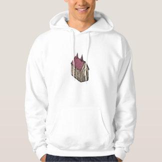 Medieval Church Drawing Hoodie