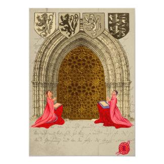 Medieval Church Save The Date Cards 13 Cm X 18 Cm Invitation Card