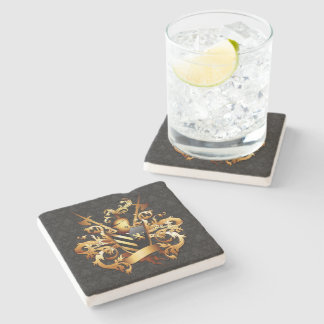 Medieval Coat of Arms Stone Coaster