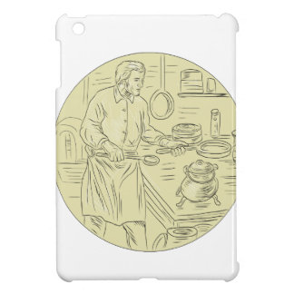 Medieval Cook Kitchen Oval Drawing iPad Mini Cover