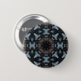 Medieval design kaleidoscope 6 cm round badge