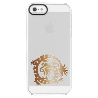Medieval Dragon - Copper - Clear Phone Case