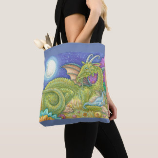 MEDIEVAL DRAGON FAMILY Blue Baby FANTASY TOTE BAG
