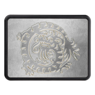 Medieval Dragon - Silver - Trailer Hitch Trailer Hitch Cover