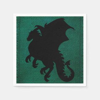 Medieval Dragon Sword Vintage Paper Napkin