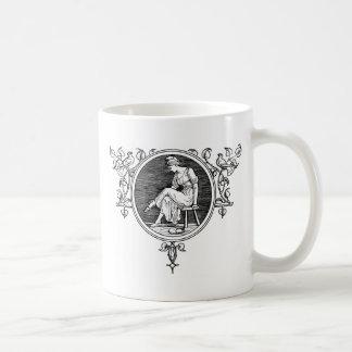 medieval dress basic white mug